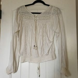 Tops - Free People white blouse!